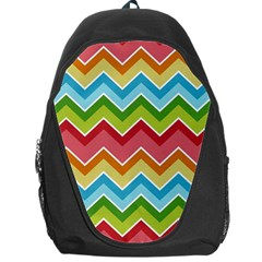 Colorful Background Of Chevrons Zigzag Pattern Backpack Bag by Simbadda