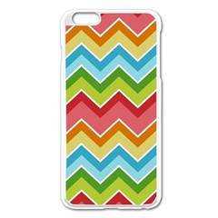 Colorful Background Of Chevrons Zigzag Pattern Apple Iphone 6 Plus/6s Plus Enamel White Case by Simbadda