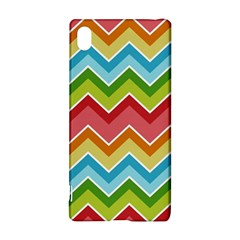 Colorful Background Of Chevrons Zigzag Pattern Sony Xperia Z3+ by Simbadda