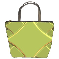 Fractal Green Diamonds Background Bucket Bags by Simbadda