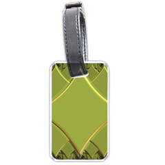 Fractal Green Diamonds Background Luggage Tags (one Side)