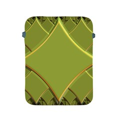Fractal Green Diamonds Background Apple Ipad 2/3/4 Protective Soft Cases by Simbadda