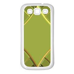 Fractal Green Diamonds Background Samsung Galaxy S3 Back Case (white)