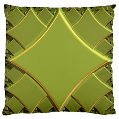 Fractal Green Diamonds Background Standard Flano Cushion Case (one Side)