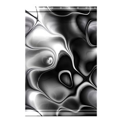 Fractal Black Liquid Art In 3d Glass Frame Shower Curtain 48  X 72  (small)  by Simbadda