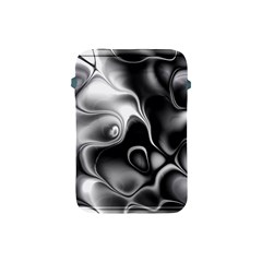 Fractal Black Liquid Art In 3d Glass Frame Apple Ipad Mini Protective Soft Cases by Simbadda