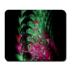 Pink And Green Shapes Make A Pretty Fractal Image Large Mousepads