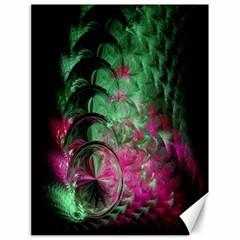 Pink And Green Shapes Make A Pretty Fractal Image Canvas 18  X 24   by Simbadda