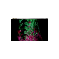 Pink And Green Shapes Make A Pretty Fractal Image Cosmetic Bag (small)