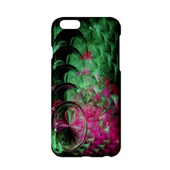 Pink And Green Shapes Make A Pretty Fractal Image Apple Iphone 6/6s Hardshell Case by Simbadda