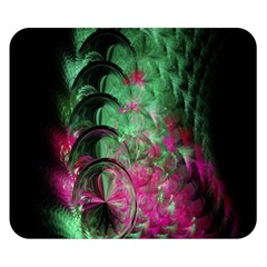 Pink And Green Shapes Make A Pretty Fractal Image Double Sided Flano Blanket (small)  by Simbadda