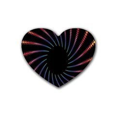 Fractal Black Hole Computer Digital Graphic Rubber Coaster (heart)  by Simbadda