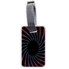 Fractal Black Hole Computer Digital Graphic Luggage Tags (one Side)  by Simbadda