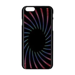 Fractal Black Hole Computer Digital Graphic Apple Iphone 6/6s Black Enamel Case by Simbadda
