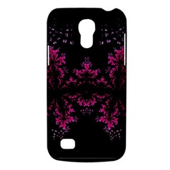 Violet Fractal On Black Background In 3d Glass Frame Galaxy S4 Mini by Simbadda