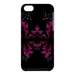 Violet Fractal On Black Background In 3d Glass Frame Apple Iphone 5c Hardshell Case by Simbadda