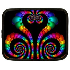 Fractal Drawing Of Phoenix Spirals Netbook Case (xl)  by Simbadda