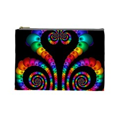 Fractal Drawing Of Phoenix Spirals Cosmetic Bag (large)