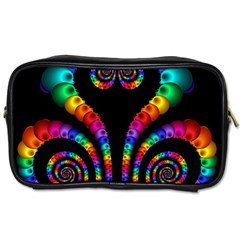 Fractal Drawing Of Phoenix Spirals Toiletries Bags