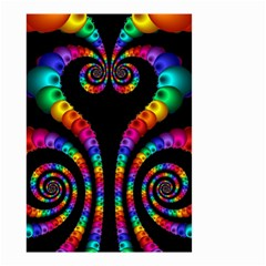 Fractal Drawing Of Phoenix Spirals Small Garden Flag (two Sides) by Simbadda