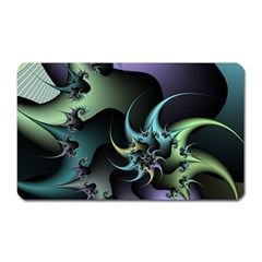 Fractal Image With Sharp Wheels Magnet (rectangular) by Simbadda