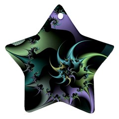 Fractal Image With Sharp Wheels Star Ornament (two Sides)