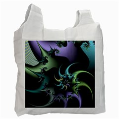 Fractal Image With Sharp Wheels Recycle Bag (one Side) by Simbadda
