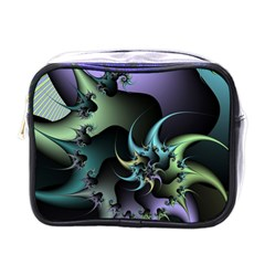 Fractal Image With Sharp Wheels Mini Toiletries Bags by Simbadda