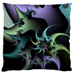 Fractal Image With Sharp Wheels Large Cushion Case (two Sides)
