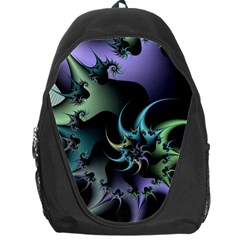 Fractal Image With Sharp Wheels Backpack Bag