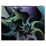 Fractal Image With Sharp Wheels Cosmetic Bag (XXXL)  Back