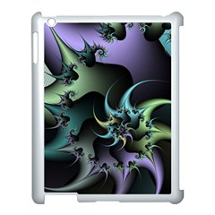 Fractal Image With Sharp Wheels Apple Ipad 3/4 Case (white) by Simbadda