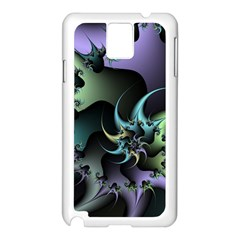 Fractal Image With Sharp Wheels Samsung Galaxy Note 3 N9005 Case (white) by Simbadda