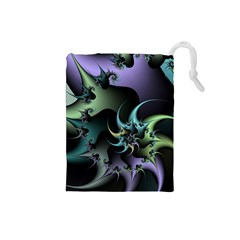 Fractal Image With Sharp Wheels Drawstring Pouches (small)