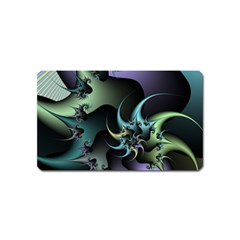 Fractal Image With Sharp Wheels Magnet (name Card) by Simbadda