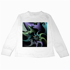 Fractal Image With Sharp Wheels Kids Long Sleeve T Shirts