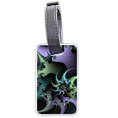 Fractal Image With Sharp Wheels Luggage Tags (one Side)  by Simbadda