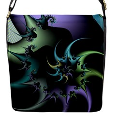 Fractal Image With Sharp Wheels Flap Messenger Bag (s) by Simbadda