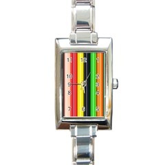 Stripes Colorful Striped Background Wallpaper Pattern Rectangle Italian Charm Watch by Simbadda