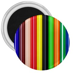 Stripes Colorful Striped Background Wallpaper Pattern 3  Magnets by Simbadda