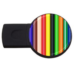 Stripes Colorful Striped Background Wallpaper Pattern Usb Flash Drive Round (4 Gb) by Simbadda