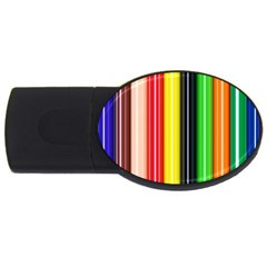 Stripes Colorful Striped Background Wallpaper Pattern Usb Flash Drive Oval (4 Gb)