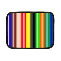 Stripes Colorful Striped Background Wallpaper Pattern Netbook Case (small)  by Simbadda