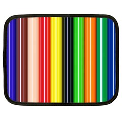 Stripes Colorful Striped Background Wallpaper Pattern Netbook Case (xl)  by Simbadda