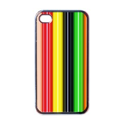 Stripes Colorful Striped Background Wallpaper Pattern Apple Iphone 4 Case (black)