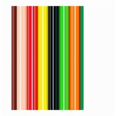 Stripes Colorful Striped Background Wallpaper Pattern Small Garden Flag (two Sides) by Simbadda