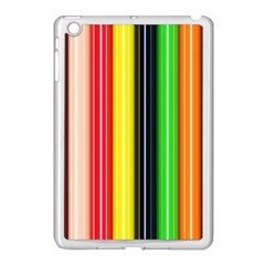Stripes Colorful Striped Background Wallpaper Pattern Apple Ipad Mini Case (white) by Simbadda