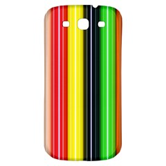 Stripes Colorful Striped Background Wallpaper Pattern Samsung Galaxy S3 S Iii Classic Hardshell Back Case by Simbadda