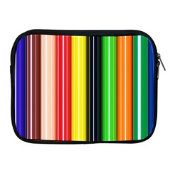Stripes Colorful Striped Background Wallpaper Pattern Apple Ipad 2/3/4 Zipper Cases