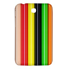 Stripes Colorful Striped Background Wallpaper Pattern Samsung Galaxy Tab 3 (7 ) P3200 Hardshell Case  by Simbadda